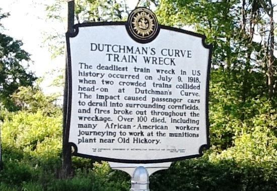 Dutchmans Curve Train Wreck Historical Marker