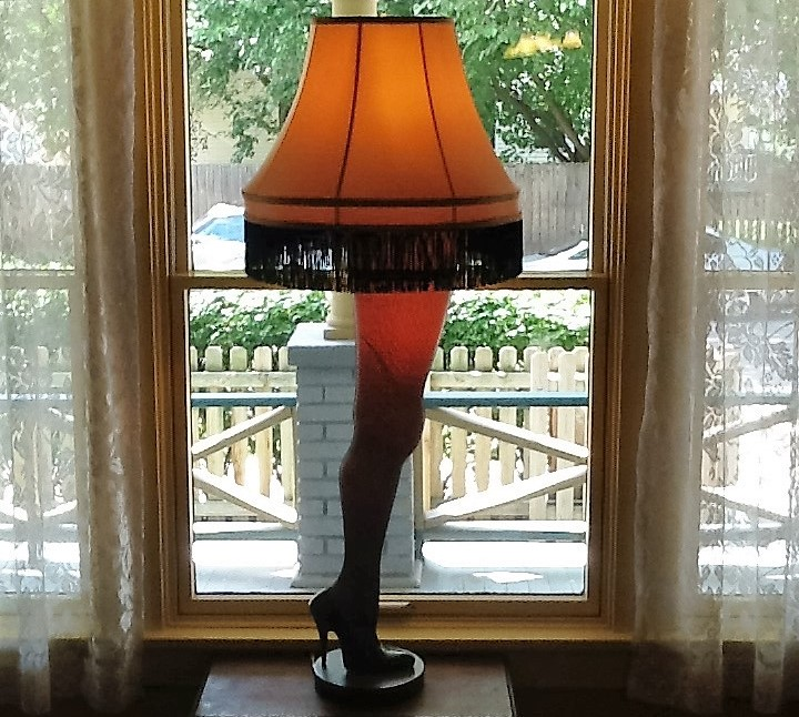 Leg Lamp At A Christmas Story House