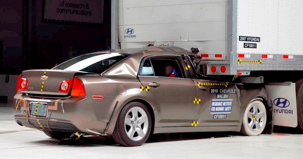 Rear Underride Crash Test Fail