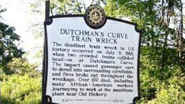 Dutchmans Curve Train Wreck Historical Marker