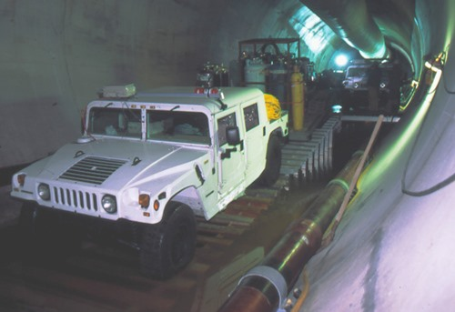 Deer Island Outfall Tunnel Humvees