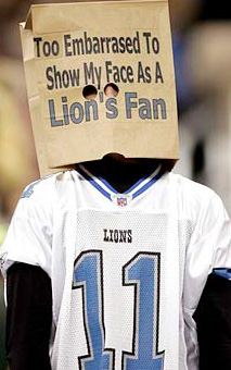 Detriot Lions Fans Embarrased