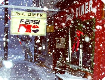Joes Diner Last Night Snow