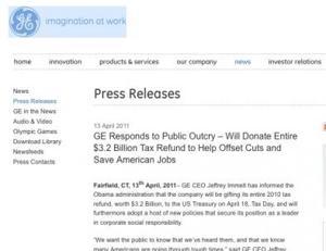 Ge Hoax Press Release