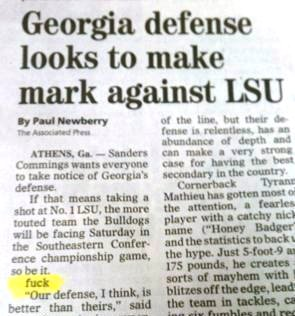 Greenville News Copy Editing Fail