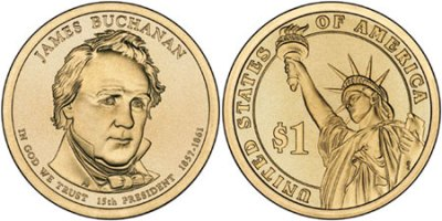 James  Buchanan  Dollar  Coin