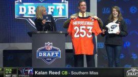 Mr Irrelevant 2016 Kalan Reed Broncos Jersey Titans Helmet