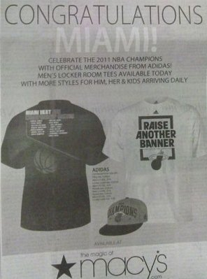 Macys Congratulates Miami Heat