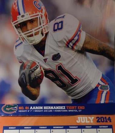 Aaron  Hernandez  Uf Calendar Fail