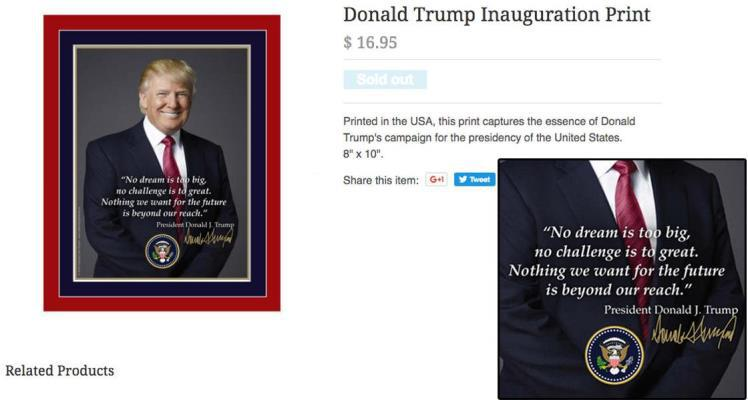 Donald Trump Inauguration Poster Typo