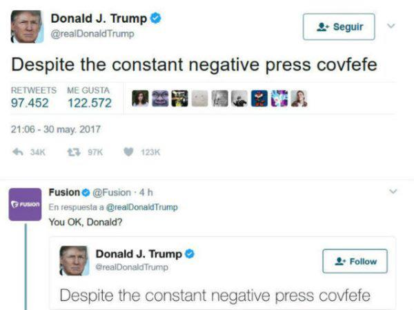 Donald Trump Covfefe Fail